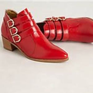 Modern Vice x Anthropologie Chloe boots red